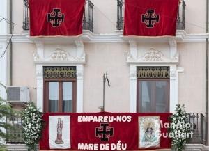 Adornos para la Visita de la Virgen a Cobera. Foto de Manolo Guallart.