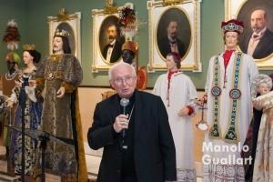 El arzobispo de Valencia, Antonio Cañizares, en su intervención junto a los Bultos de San Vicente Ferrer. Foto de Manolo Guallart.