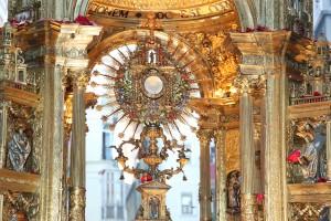 La custodia del Corpus Christi de Valencia, obra de Francisco Pajarón Suay. Foto de Manolo Guallart.