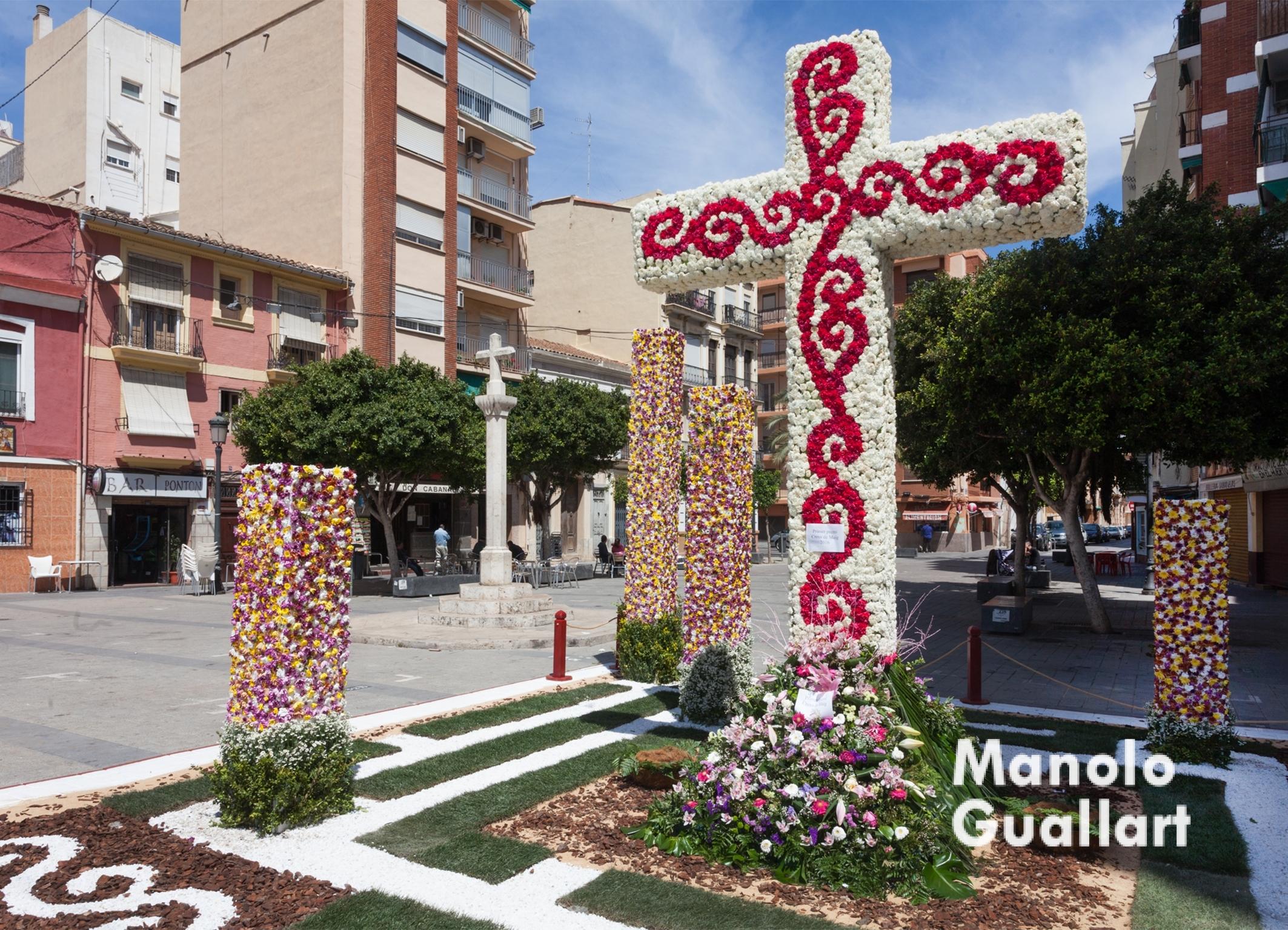 1er premio Categoría A (FALLA PLAÇA LA CREU – ELS ÀNGELS). Foto de Manolo Guallart.
