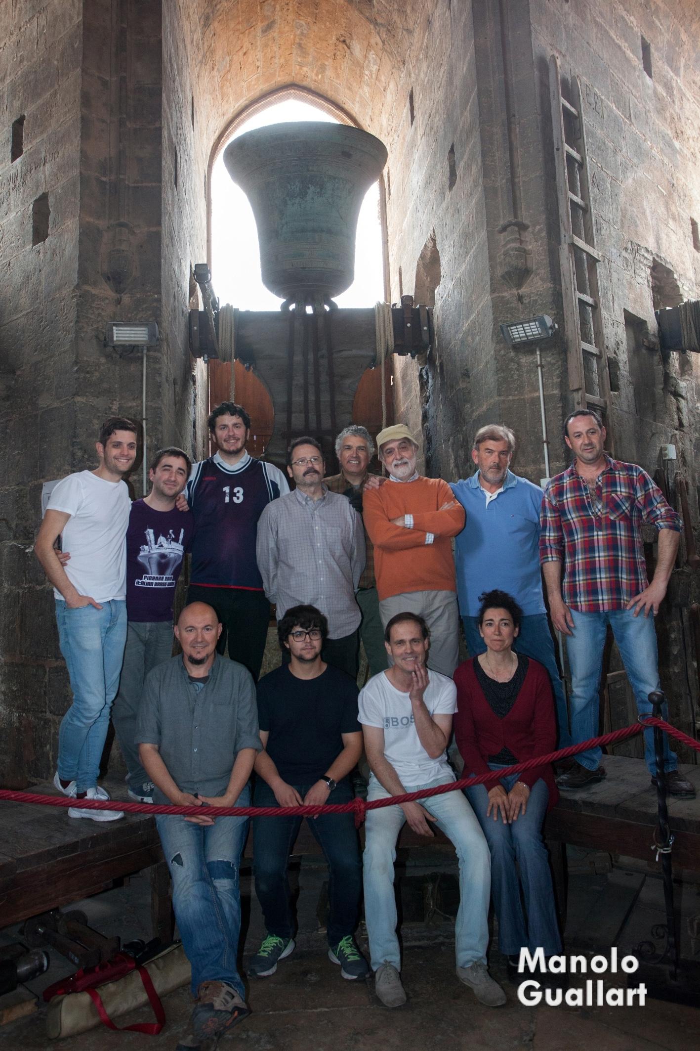 Grupo de campaneros de la Catedral de Valencia. Foto de Manolo Guallart.
