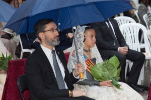 "Sofía Soler, Fallera Mayor Infantil de Valencia, en la ""Missa d´Infants"". Foto de Manolo Guallart."