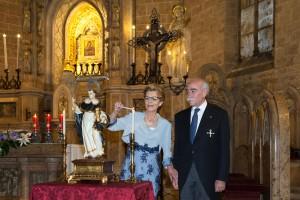 Rafael y Geni PInazo el día de su proclamación. Foto de Manolo Guallart.