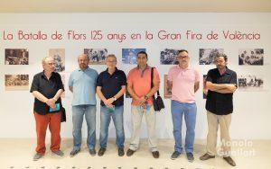 Maestros carroceros presentes en la inauguración de la exposición sobre la Batalla de Flores. Foto de Manolo Guallart.