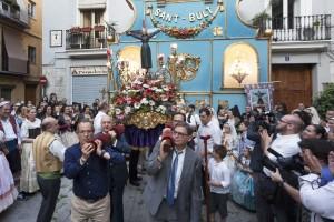 Momento final de la procesión de Sant Bult. Foto de Manolo Guallart.