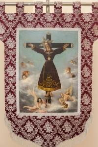 Guión-estandarte con la imagen original de Sant Bult, restaurado por el Instituto Valenciano de Conservación y Restauración. Foto de Manolo Guallart.