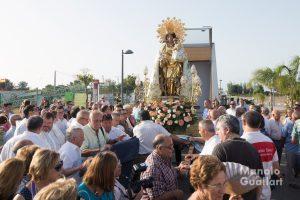 Llegada de la Virgen de los Desamparados a El Palmar. Foto de Manolo Guallart.
