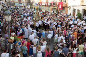 Multitudinaria recepción a la Virgen en El Palmar. Foto de Manolo Guallart.