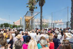 Encuentro con la Virgen de los Desamparados en el complejo Civisa de El Perellonet. Foto de Manolo Guallart.