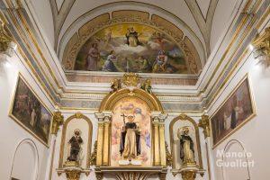 Altar mayor de la parroquia de San Luis Beltrán en la Fonteta. Foto de Manolo Guallart.