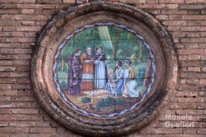 Azulejo que recuerda el milagro de la Fonteta de San Lluís. Foto de Manolo Guallart.