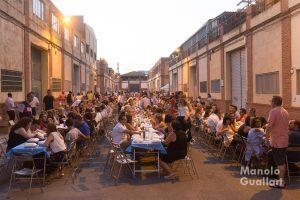Cena de la Nit de la puntxà en la Ciudad Fallera. Foto de Manolo Guallart.