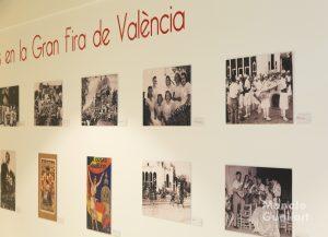 Detalle de la exposición de Rafael Solaz sobre la Batalla de Flores. Foto de Manolo Guallart.