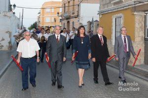 Autoridades civiles en la procesión de San Vicente Mártir de Benimámet. Foto de Manolo Guallart.
