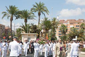 Traslado de la Virgen del Carmen al puerto de Valencia. Foto de Manolo Guallart.