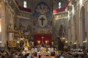 Misa solemne de la Virgen del Carmen en la parroquia de la Santísima Cruz. Foto de Manolo Guallart.