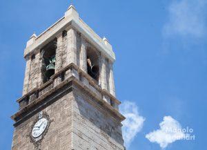 """Las campanas de Santa María del Mar tocando a fiesta de la mano de """"Mestres Campaners"""". Foto de Manolo Guallart."""