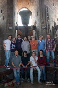 """Un grupo de la asociación de """"Campaners de la Catedral de Valencia"""". Foto de Manolo Guallart."""