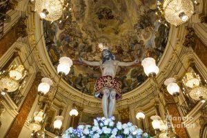 Cristo de la Salud (El Palmar) en la Basílica de la Virgen de los Desamparados. Foto de Manolo Guallart.