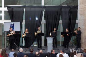 Grup de Trompes de la Unió Musical de Riba-roja. Foto de Manolo Guallart.