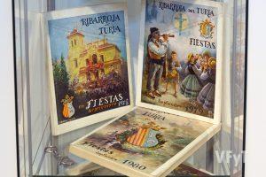 Libros de Fiestas Patronales antiguos. Foto de Manolo Guallart.