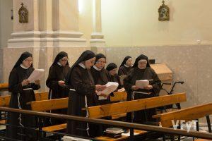 Clarisas capuchinas en la celebración de Santa Clara. Foto de Manolo Guallart.