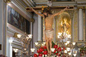 El Cristo de la Fe en la parroquia de San Martín Obispo (Alcàsser). Foto de Manolo Guallart.