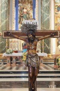 El Cristo del Grao y la Asunción en la parroquia de Santa María del Mar. Foto de Manolo Guallart.
