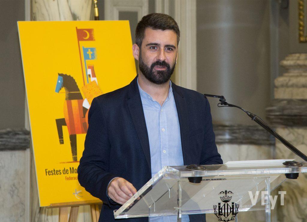Pere Fuset, concejal de Cultura Festiva del Ayuntamiento de Valencia. Foto de Manolo Guallart.
