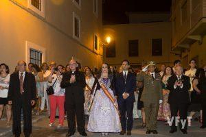 Autoridades civiles, religiosas y militares en la fiesta del Cristo de la Fe y San Vicente Ferrer de Paterna. Foto de Manolo Guallart.