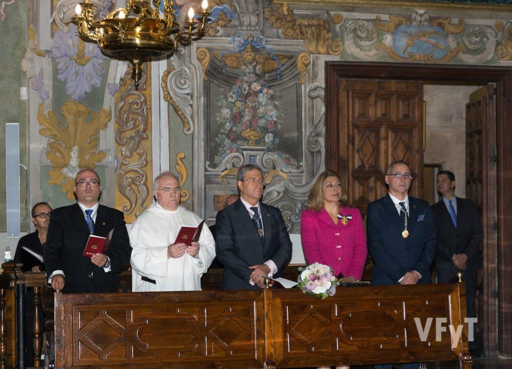 (de izda. a dcha.) Javier Doménech, Fray Vito, José Vte. Vila, María Falcón y Santiago Ruiz. Foto de Manolo Guallart.