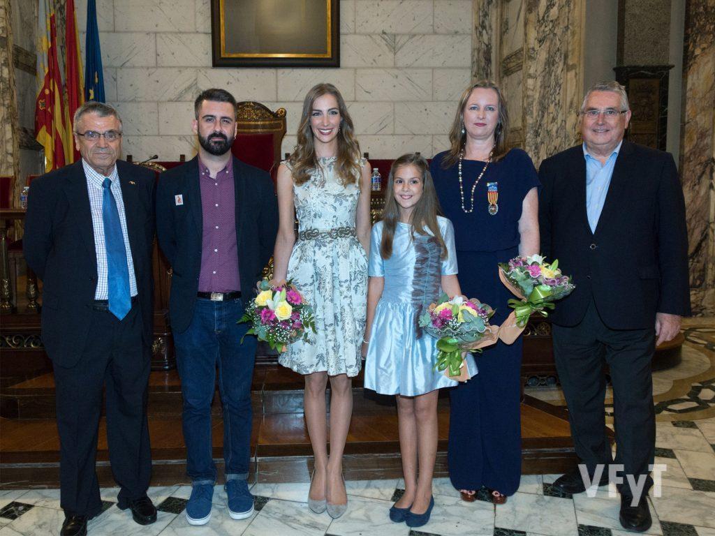 Joan Antoni Alapont (izda.), Pere Fuset, Raquel Alario, Carmen Mª Parejo, Bettina Vöringer y Enric Esteve. Foto de Manolo Guallart.