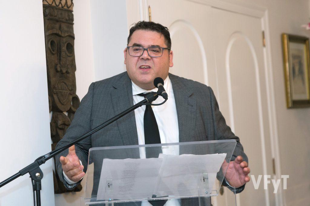 """Sito Sanchis (Englantina d´Or) emocionó a los presentes con """"L´alé del Palleter"""". Foto de Manolo Guallart."""