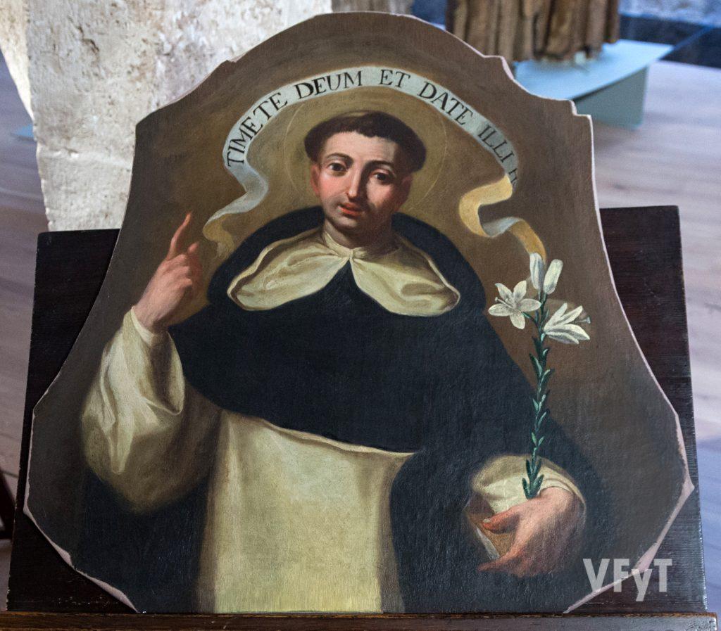 Óleo restaurado dedicado a San Vicente Ferrer. Foto de Manolo Guallart.