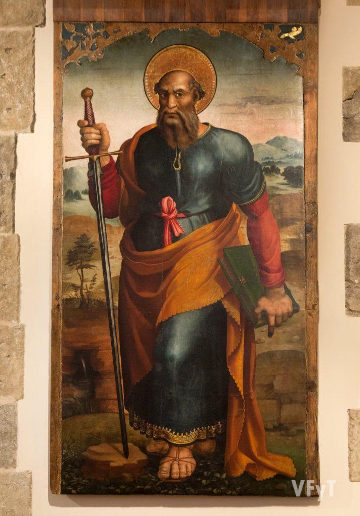 Tabla del siglo XVI que representa a San Pablo. Foto de Manolo Guallart.