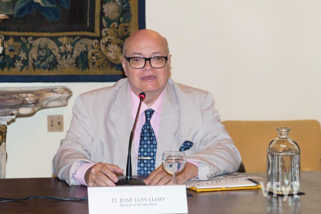 José Luis Lliso, presidente de ARCHIVAL, durante la presentación. Foto de Manolo Guallart.