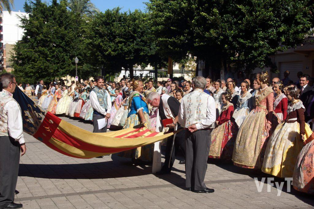 Homenaje a la Real Senyera en el Marítimo. Foto de Antonio Cerveró.