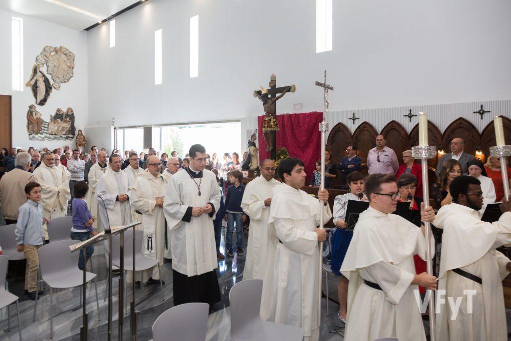 Celebración de clausura del Año Jubilar con la imagen del Cristo de la Fe y San Vicente Ferrer. Foto de Manolo Guallart.