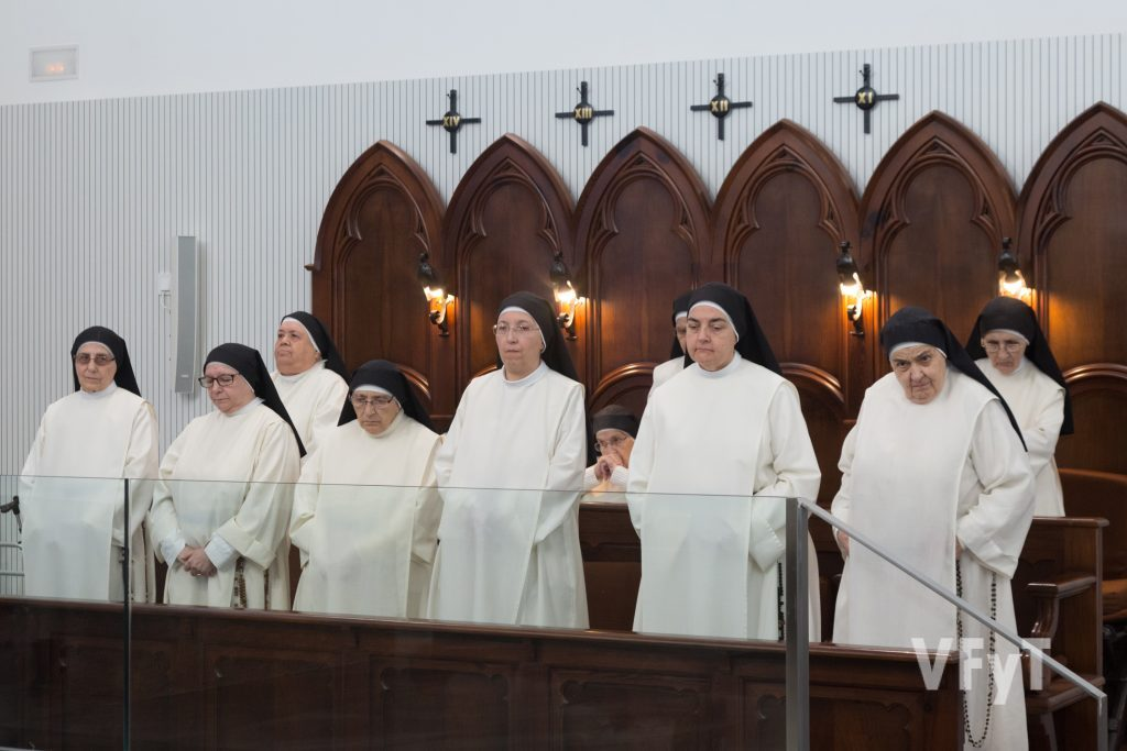 Dominicas del monasterio de Santa Catalina de Siena en La Coma (Paterna) durante la clausura del Año Jubilar Dominicano. Foto de Manolo Guallart.