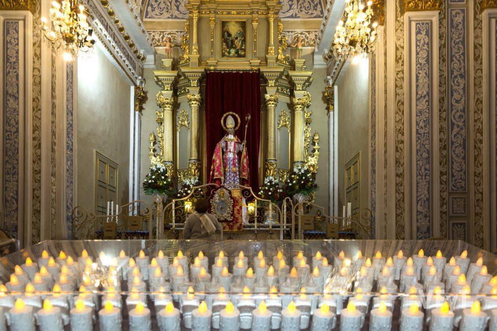 San Blas en la capilla de la parroquia de San Valero. Foto de Manolo Guallart.