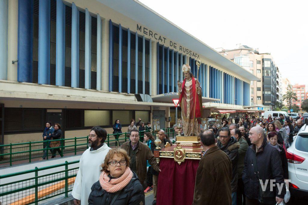 El Mercado de Ruzafa al paso de San Blas. Foto de Manolo Guallart.