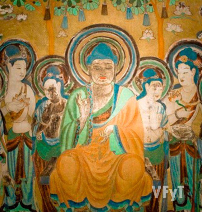Las enseñanzas de Maitreya. Gruta nº 122. Mogao (Dunhuang) Pintura mural Foto: Sun Zhijun