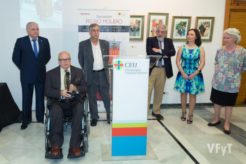 Intervención de José Luis Lliso (presidente de ARCHIVAL) en la presentación de la Exposición de Pedro Molero. Foto M Guallart.