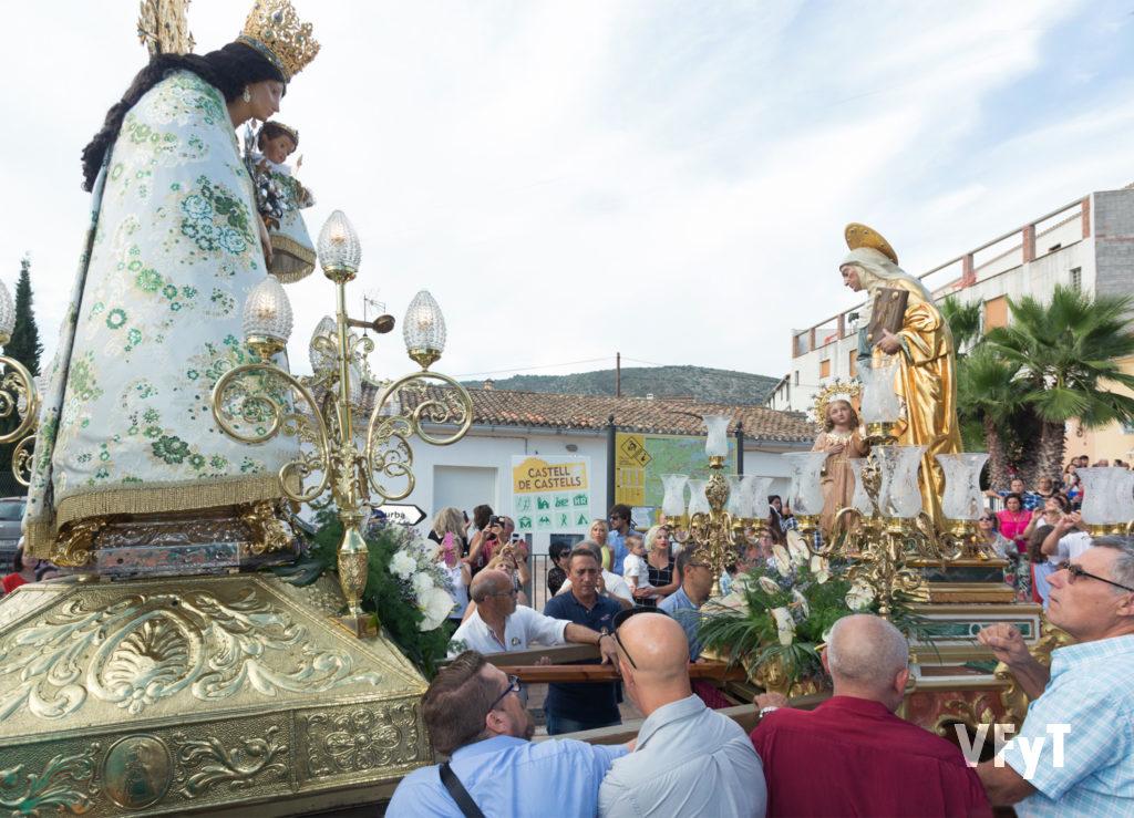 Encuentro de la Virgen de los Desamparados con Santa Ana.