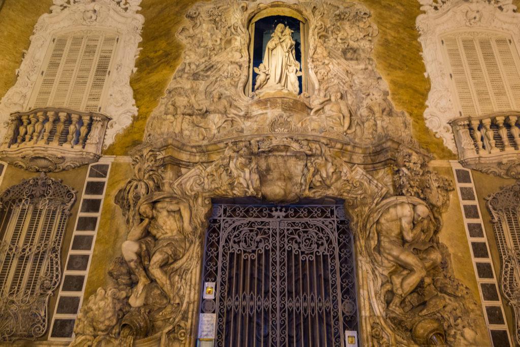 La fachada del Palacio Marqués de Dos Aguas en la Ruta 'Mitos y leyendas a la luna de Valencia'.