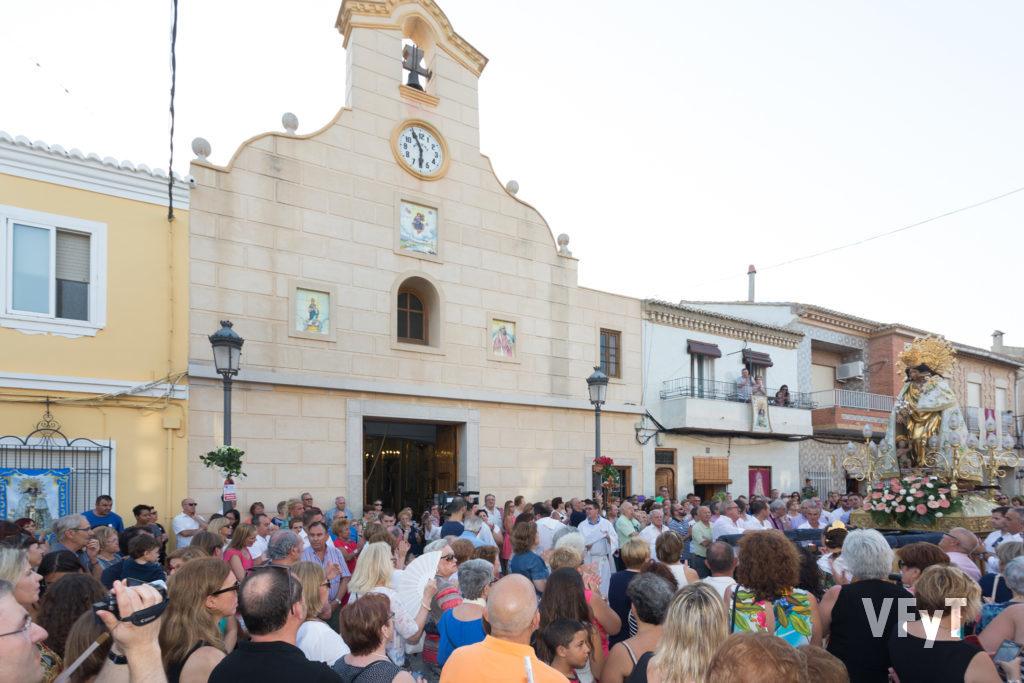 Visita de la Virgen de los Desamparados a El Palmar el 21 de julio de 2016.