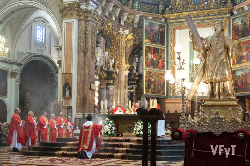 Misa de pontifical en la Catedral Metropolitana de Valencia en honor a su patrón, San Vicente Mártir. Foto de Manolo Guallart.