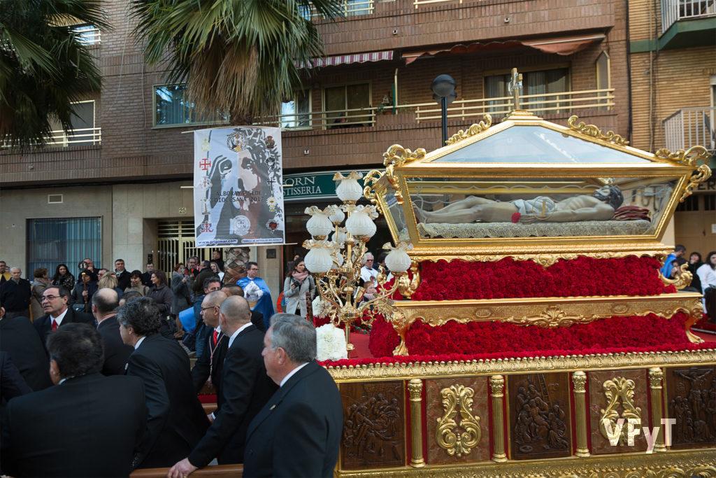 La procesión de la Junta diocesana de la Semana Santa de Valencia cuya sede fue Alboraya. Foto de Manolo Guallart.