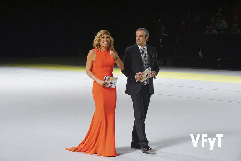 Carme Bort y Ximo Rovira, los presentadores de la Gala de Elección de las Cortes de Honor de las Falleras Mayores de València 2018