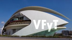 El Palacio Reina Sofía en la Ciudad de las Artes y las Ciencias de Valencia.